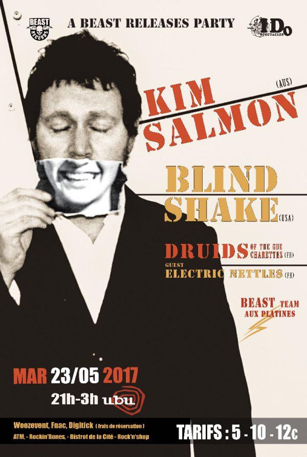 23 Mai 2017 - KIM SALMON BEAST RELEASE PARTY @ UBU - Rennes
